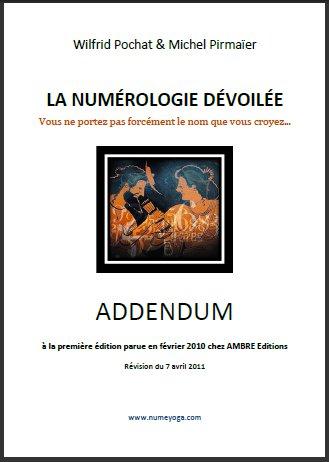 Addendum gratuit à La Numérologie dévoilée disponible chez Ambre Editions